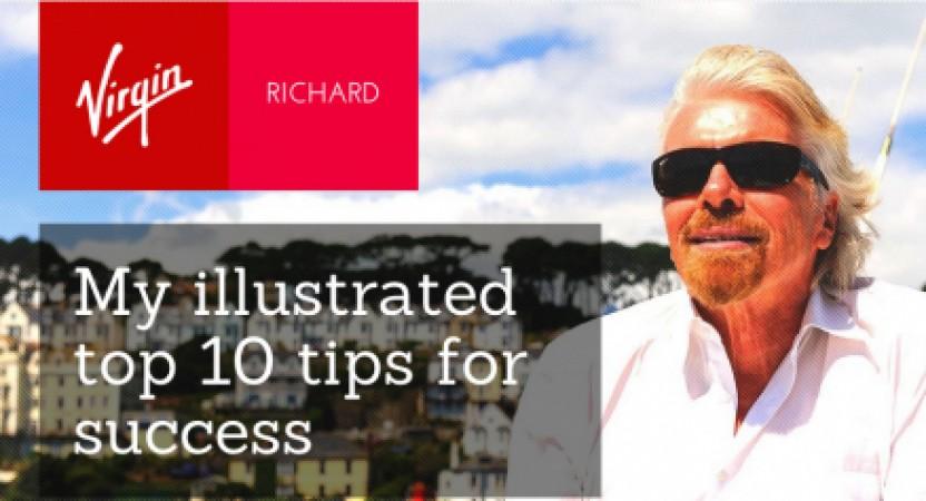 Las 10 claves para el éxito de Richard Branson