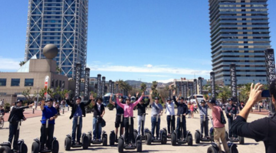 A treasure hunt for Nike with Segways, fun, tapas and challenges
