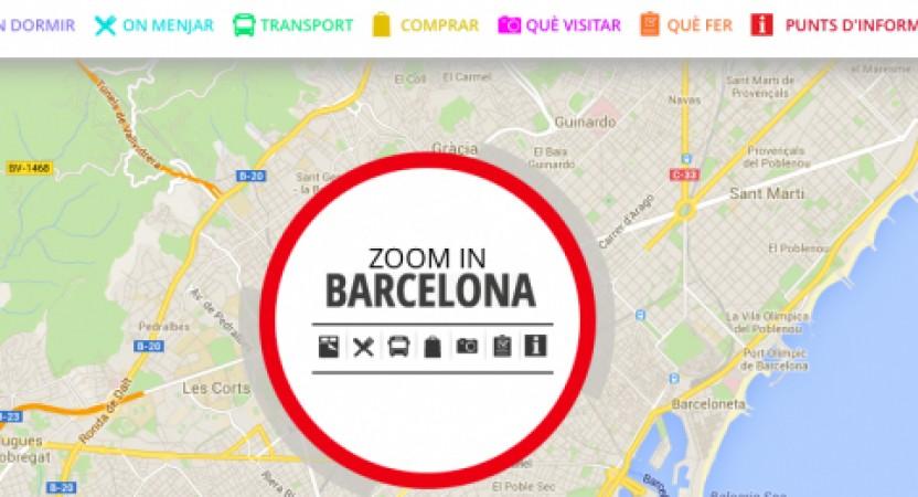 Barcelona Turisme lanza un mapa interactivo para organizar visitas a la ciudad.