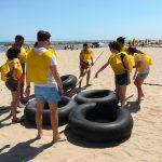 Team building beach activity